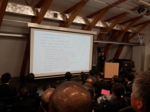 オガールプラザ代表取締役 岡崎正信氏による基調講演