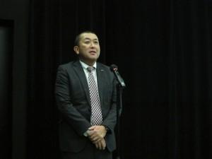 講演に先立ち、広川理事長の挨拶