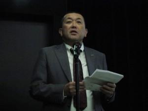 講演に先立って広川理事長の挨拶